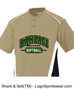 Adult RBI Colorblock Baseball and Softball Jersey Design Zoom
